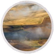 Patterns Of The Land Round Beach Towel