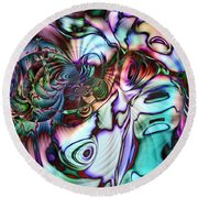 Paua Shell Round Beach Towel
