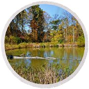 Peaceful Place Round Beach Towel