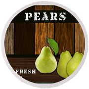 Pear Farm Round Beach Towel