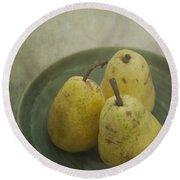 Pears Round Beach Towel by Priska Wettstein