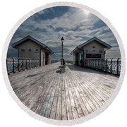 Penarth Pier 1 Round Beach Towel