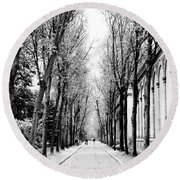 Pere-lachais Cemetery In Paris France Round Beach Towel