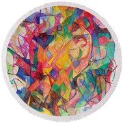 Perpetual Encounter With Providence 6 Round Beach Towel