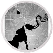 Perth Street Map - Perth Australia Road Map Art On Colored Backg Round Beach Towel