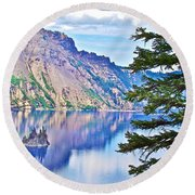 Phantom Ship Overlook In Crater Lake National Park-oregon Round Beach Towel