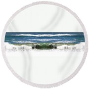 Photo Synthesis 2 Round Beach Towel