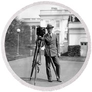 Photographer, C1915 Round Beach Towel