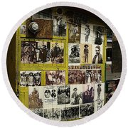 Photos Mexican Revolution Street Photographer's Shed Nogales Sonora Mexico 2003 Round Beach Towel