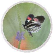 Piano Key Butterfly1 Round Beach Towel
