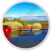 Picnic Leftover Round Beach Towel