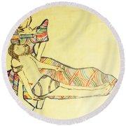 Pieta Round Beach Towel