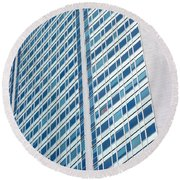 Pirelli Building Round Beach Towel