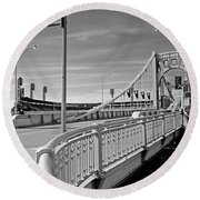 Pittsburgh - Roberto Clemente Bridge Round Beach Towel by Frank Romeo