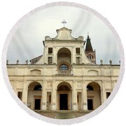 Polirone Abbey Round Beach Towel