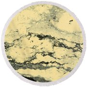 Pollen Of Black Spruce Trees On Water Surface Round Beach Towel