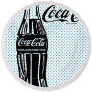 Pop Coke Bottle Round Beach Towel by Gary Grayson