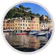 Portofino - Italy Round Beach Towel
