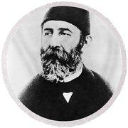 Portrait Of Djemal Pasha Round Beach Towel