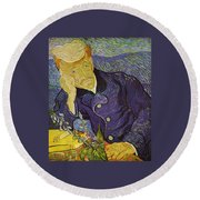 Portrait Of Doctor Gachet Round Beach Towel