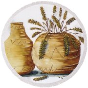 Pottery Round Beach Towel