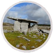 Poulnabrone Portal Tomb Round Beach Towel