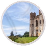 Powderham Castle Round Beach Towel