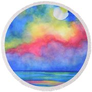 Power Of Nature  Round Beach Towel