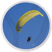Powered Paraglider Round Beach Towel