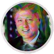 President William J. Clinton Round Beach Towel