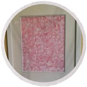 Pretty And Pink Round Beach Towel