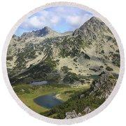 Prevalski And Valyavishki Lakes Pirin National Park Bulgaria  Round Beach Towel