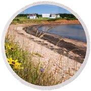 Prince Edward Island Coastline Round Beach Towel by Elena Elisseeva