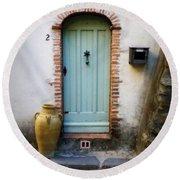 Provence Door Number 2 Round Beach Towel
