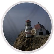 Pt Reyes Lighthouse Round Beach Towel by Bill Gallagher