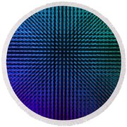 Purple And Green Lamps Round Beach Towel