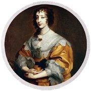 Queen Henrietta Maria Round Beach Towel