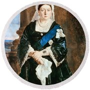 Queen Victoria Of England (1819-1901) Round Beach Towel