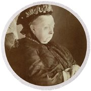 Queen Victoria Of England Round Beach Towel