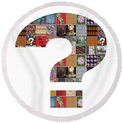 Question Symbol Showcasing Navinjoshi Gallery Art Icons Buy Faa Products Or Download For Self Printi Round Beach Towel