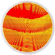 Radial Sunset Round Beach Towel