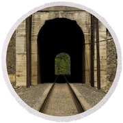 Railroad Tunnel 3 Bnsf 1 B Round Beach Towel
