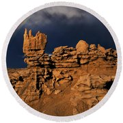 Rainbow And Sandstone Formations Fantasy Canyon Utah Round Beach Towel