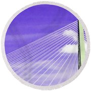 Ravenel Bridge # 2 Round Beach Towel