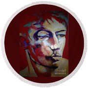 Red Blooded American Round Beach Towel