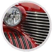 Red Cadillac Round Beach Towel