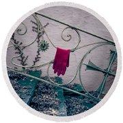 Red Glove Round Beach Towel by Joana Kruse