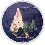 Red Rocks Open Space Round Beach Towel