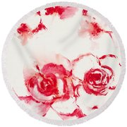 Red Rover I Round Beach Towel