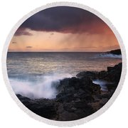 Red Storm Rising Round Beach Towel